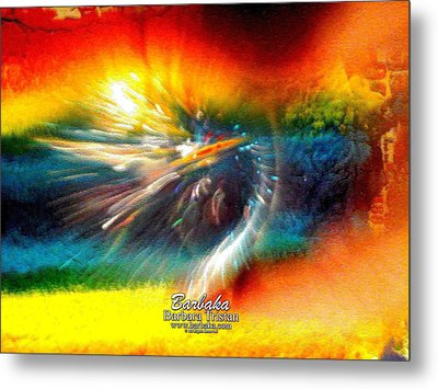Metal Print featuring the photograph Rainbow Bliss #053329 by Barbara Tristan