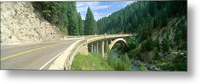 Rainbow Bridge, Highway 55, Payette Metal Print by Panoramic Images