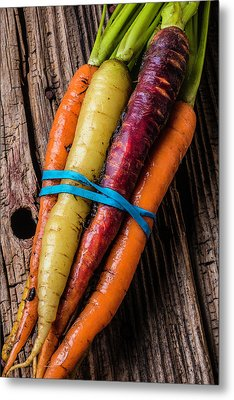 Rainbow Carrots Metal Print