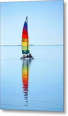 Rainbow Catamaran Metal Print