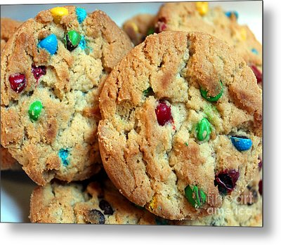 Rainbow Cookies Metal Print by Barbara Griffin