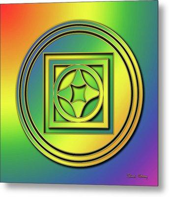 Metal Print featuring the digital art Rainbow Design 4 by Chuck Staley