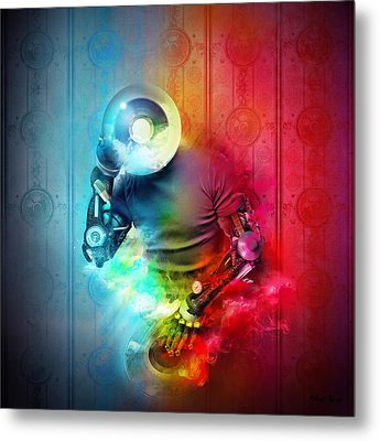 Rainbow Dj Metal Print by Robert Palmer