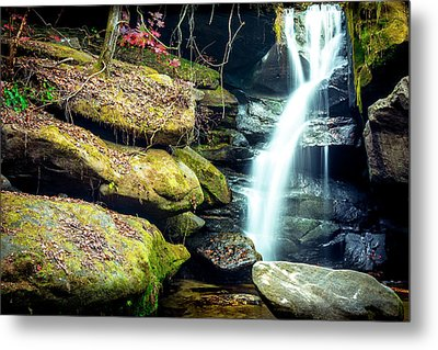Metal Print featuring the photograph Rainbow Falls At Dismals Canyon by David Morefield
