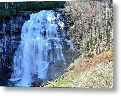 Rainbow Falls In Gorges State Park Nc 02 Metal Print by Bruce Gourley