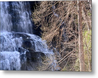 Rainbow Falls In Gorges State Park Nc 03 Metal Print by Bruce Gourley