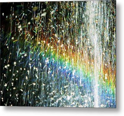 Rainbow Fountain Metal Print by Francesa Miller