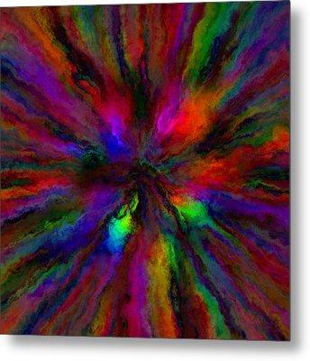 Rainbow Grunge Abstract Metal Print