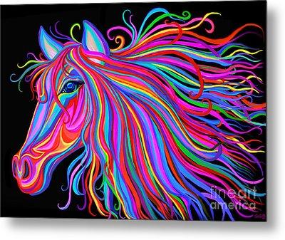 Rainbow Horse  Metal Print by Nick Gustafson