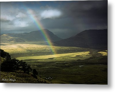 Metal Print featuring the photograph Rainbow In The Valley by Andrew Matwijec