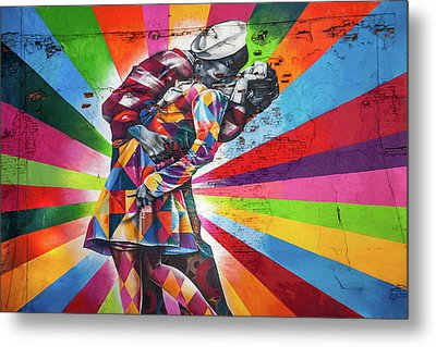Rainbow Kiss Metal Print by Az Jackson