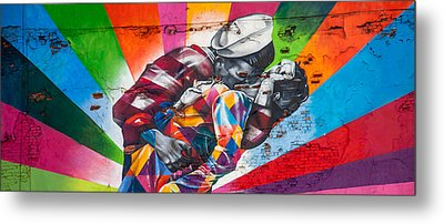 Rainbow Kiss Panorama Metal Print