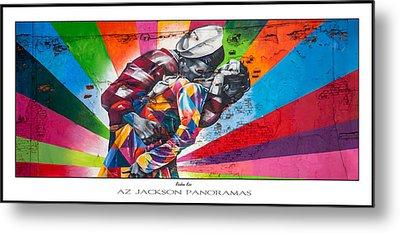 Rainbow Kiss Poster Print Metal Print by Az Jackson