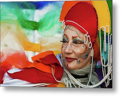 Metal Print featuring the photograph Rainbow Lady by Stefan Nielsen