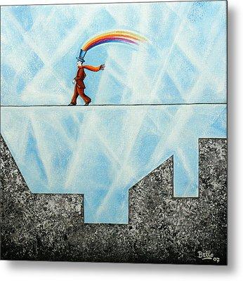 Rainbow Man Metal Print by Graciela Bello