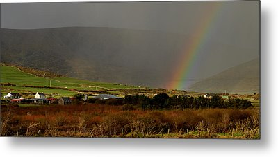 Rainbow Near Dingle Metal Print by Barbara Walsh