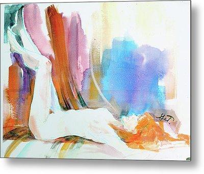 Rainbow Nude Metal Print by Gertrude Palmer