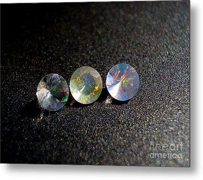 Rainbow Opal Metal Print by Neon Flash