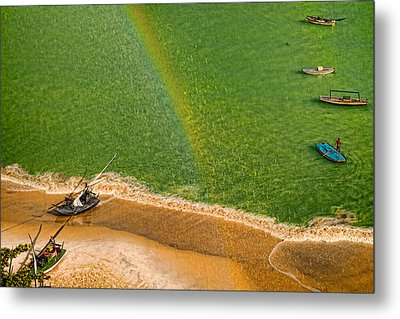 Metal Print featuring the photograph Rainbow Rain by Kim Wilson