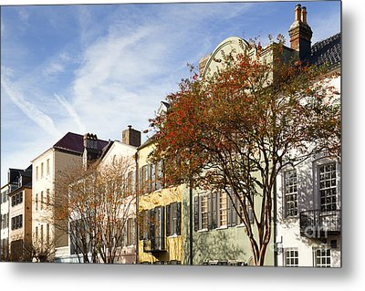 Rainbow Row Charleston Sc Metal Print by Dustin K Ryan