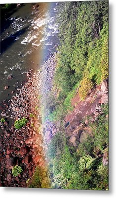 Metal Print featuring the photograph Rainbow by Sergey  Nassyrov