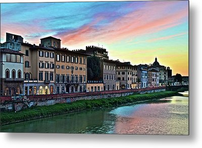Rainbow Sky Over Florence Italy Metal Print by Frozen in Time Fine Art Photography