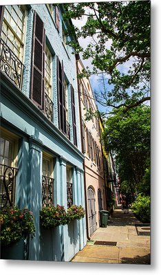 Metal Print featuring the photograph Rainbow Street by Karol Livote