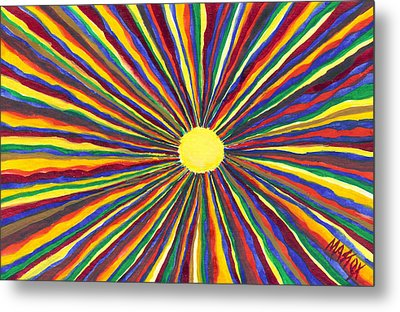 Rainbow Sunshine Metal Print