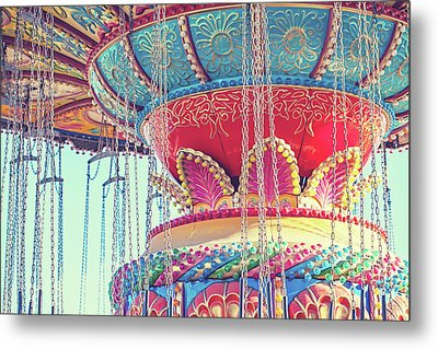 Metal Print featuring the photograph Rainbow Swings by Melanie Alexandra Price