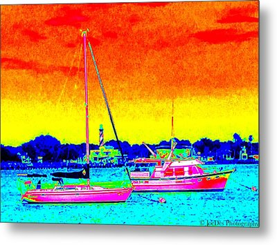 Rainbow Tide Metal Print