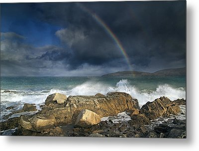 Rainbow To Heaven Shamrock Shores  Metal Print by Betsy Knapp