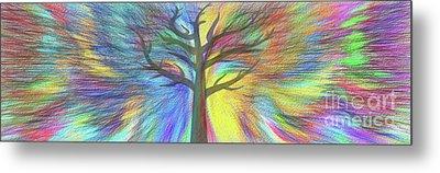 Metal Print featuring the digital art Rainbow Tree By Kaye Menner by Kaye Menner