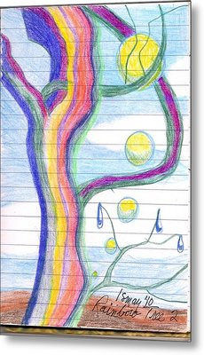 Metal Print featuring the drawing Rainbow Tree Revisited by Rod Ismay