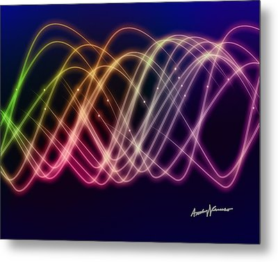 Rainbow Waves Metal Print by Anthony Caruso
