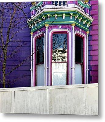 Rainbow Window Metal Print by Julie Gebhardt
