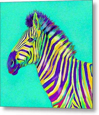 Rainbow Zebra 2013 Metal Print