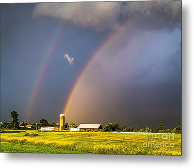 Rainbows And Silos Metal Print