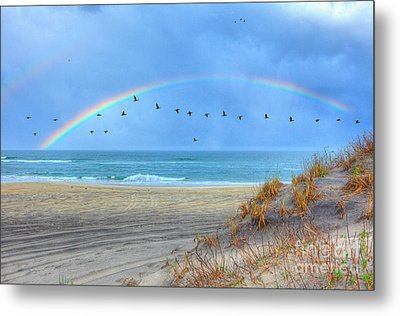 Rainbows And Wings I Metal Print
