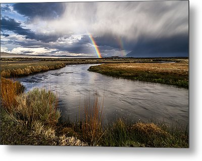 Rainbows At The Upper Owens Metal Print by Cat Connor