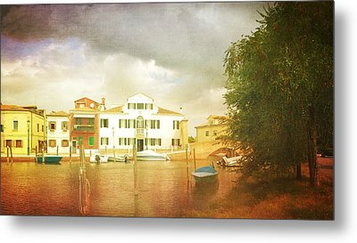 Metal Print featuring the photograph Raincloud Over Malamocco by Anne Kotan