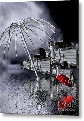 Raindrops Are Falling On My Head Metal Print by Issabild -