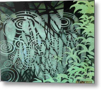 Raindrops-on-raindrops Metal Print