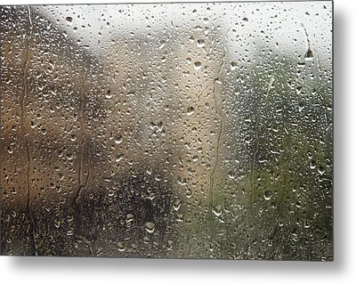 Raindrops On Window Metal Print by Brandon Tabiolo - Printscapes