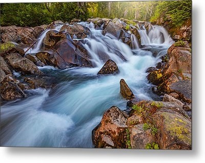 Rainier Runoff Metal Print