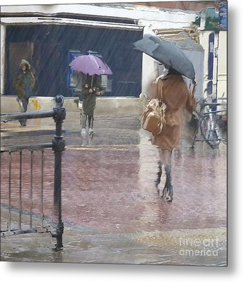 Metal Print featuring the photograph Raining All Around by LemonArt Photography