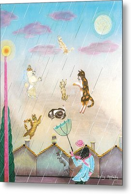 Raining Cats And Dogs Metal Print by Sally Appleby