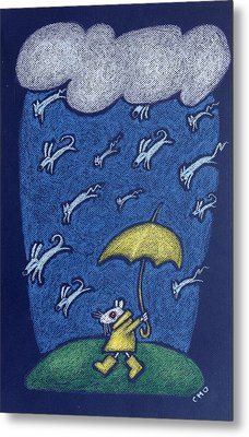 Raining Cats And Dogs Metal Print by wendy CHO