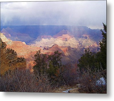 Metal Print featuring the photograph Raining In The Canyon by Marna Edwards Flavell