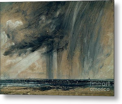 Rainstorm Over The Sea Metal Print by John Constable