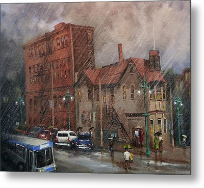 Rainy Afternoon Milwaukee Metal Print by Tom Shropshire